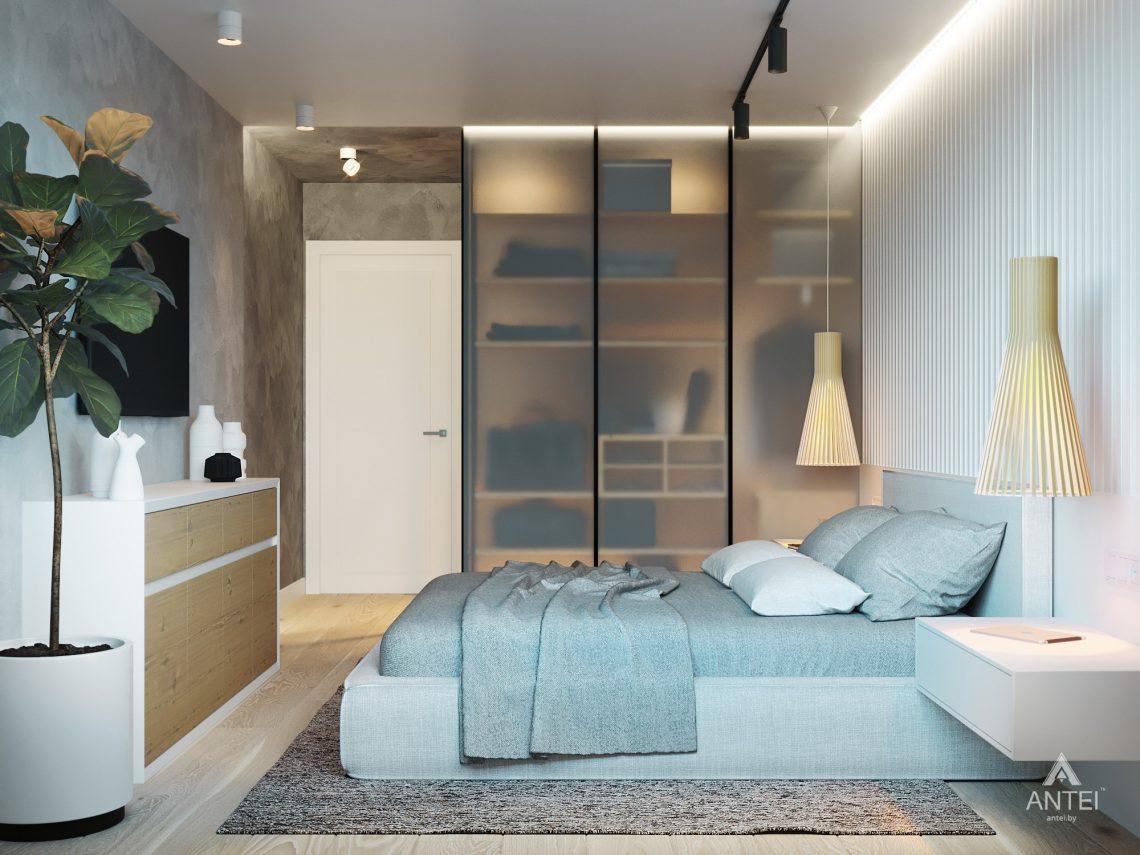 Дизайн интерьера двухкомнатной квартиры в Жлобине, ул. Карла Маркса- спальня фото №2