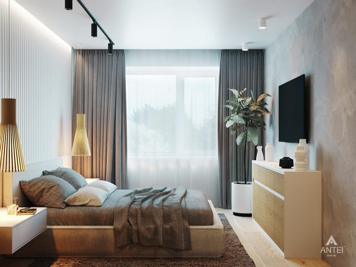 Дизайн интерьера двухкомнатной квартиры в Жлобине, ул. Карла Маркса- спальня фото №5