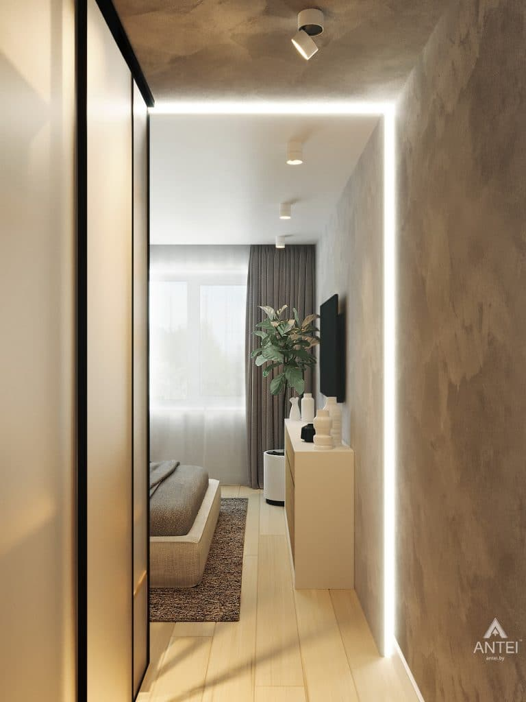 Дизайн интерьера двухкомнатной квартиры в Жлобине, ул. Карла Маркса- спальня фото №8