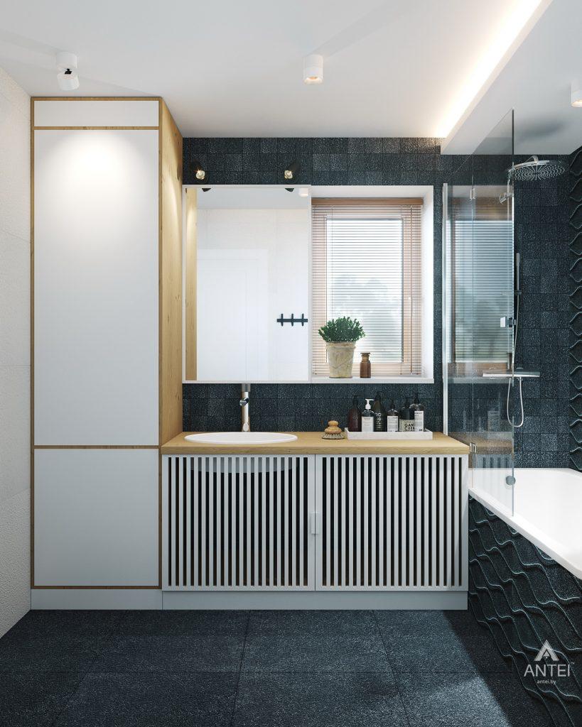 Дизайн интерьера двухкомнатной квартиры в Жлобине, ул. Карла Маркса- ванная фото №1