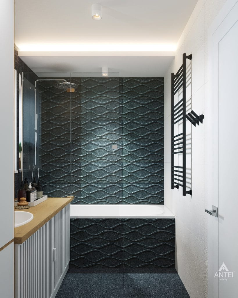 Дизайн интерьера двухкомнатной квартиры в Жлобине, ул. Карла Маркса- ванная фото №2