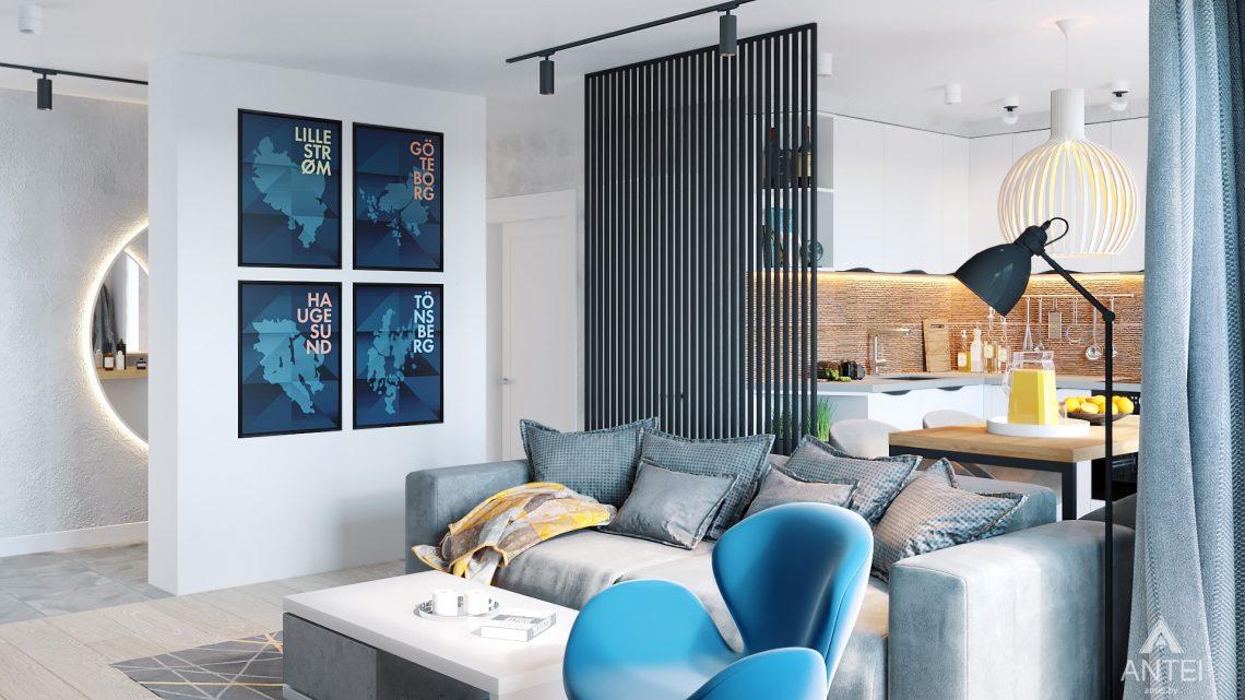 Дизайн интерьера двухкомнатной квартиры в Жлобине, ул. Карла Маркса- гостиная фото №2