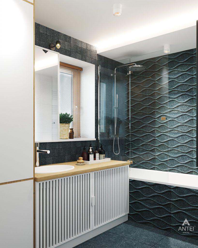 Дизайн интерьера двухкомнатной квартиры в Жлобине, ул. Карла Маркса- ванная фото №4