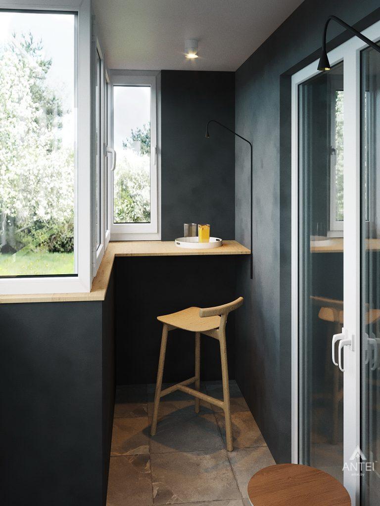 Дизайн интерьера двухкомнатной квартиры в Жлобине, ул. Карла Маркса- балкон фото №3