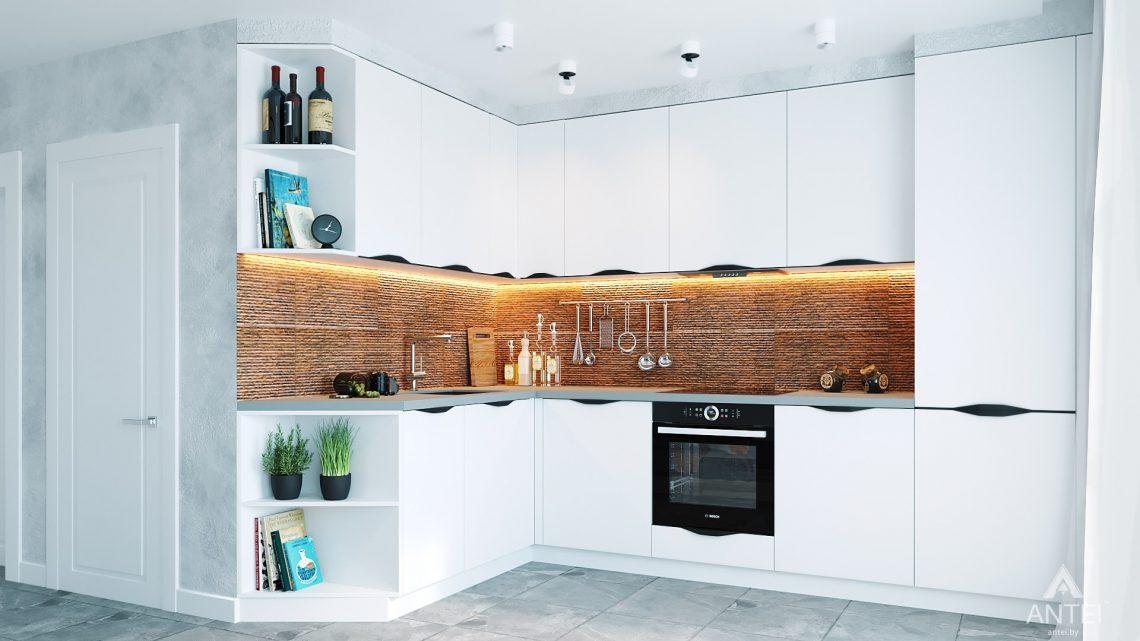 Дизайн интерьера двухкомнатной квартиры в Жлобине, ул. Карла Маркса- кухня фото №1