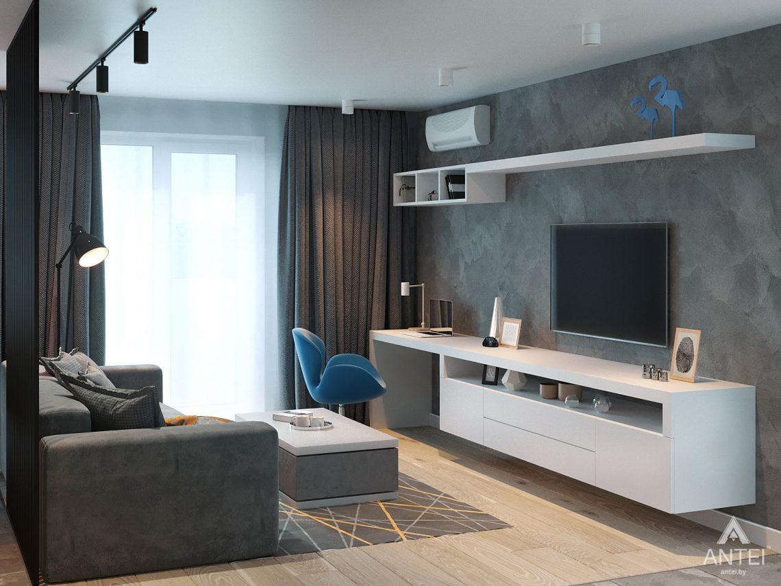 Дизайн интерьера двухкомнатной квартиры в Жлобине, ул. Карла Маркса- гостиная фото №3