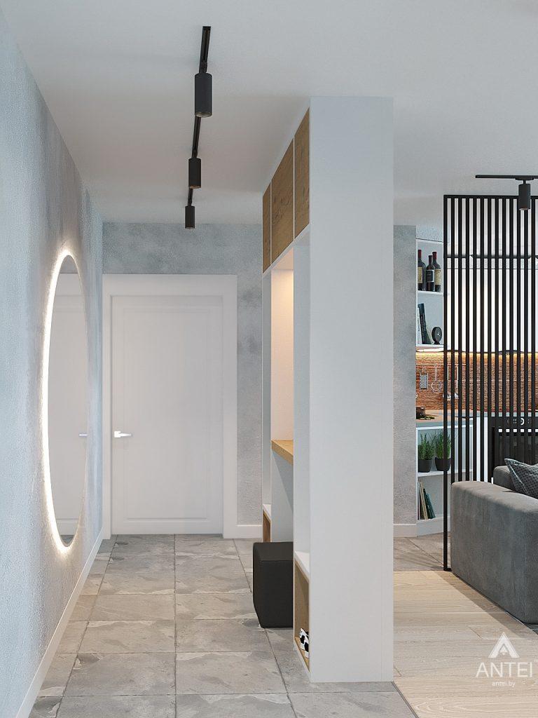 Дизайн интерьера двухкомнатной квартиры в Жлобине, ул. Карла Маркса- прихожая фото №3