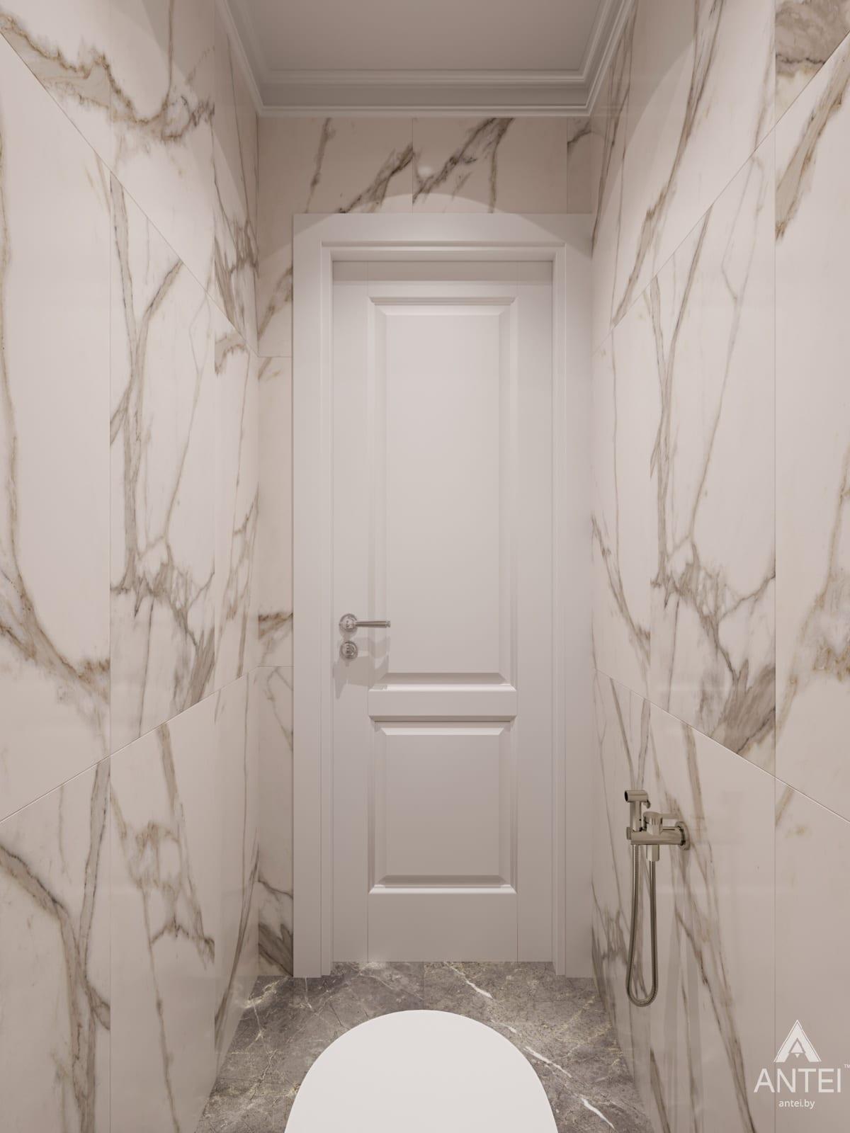 Дизайн интерьера трехкомнатной квартиры в Гомеле, ул. Бородина Т.С. - туалет фото №1