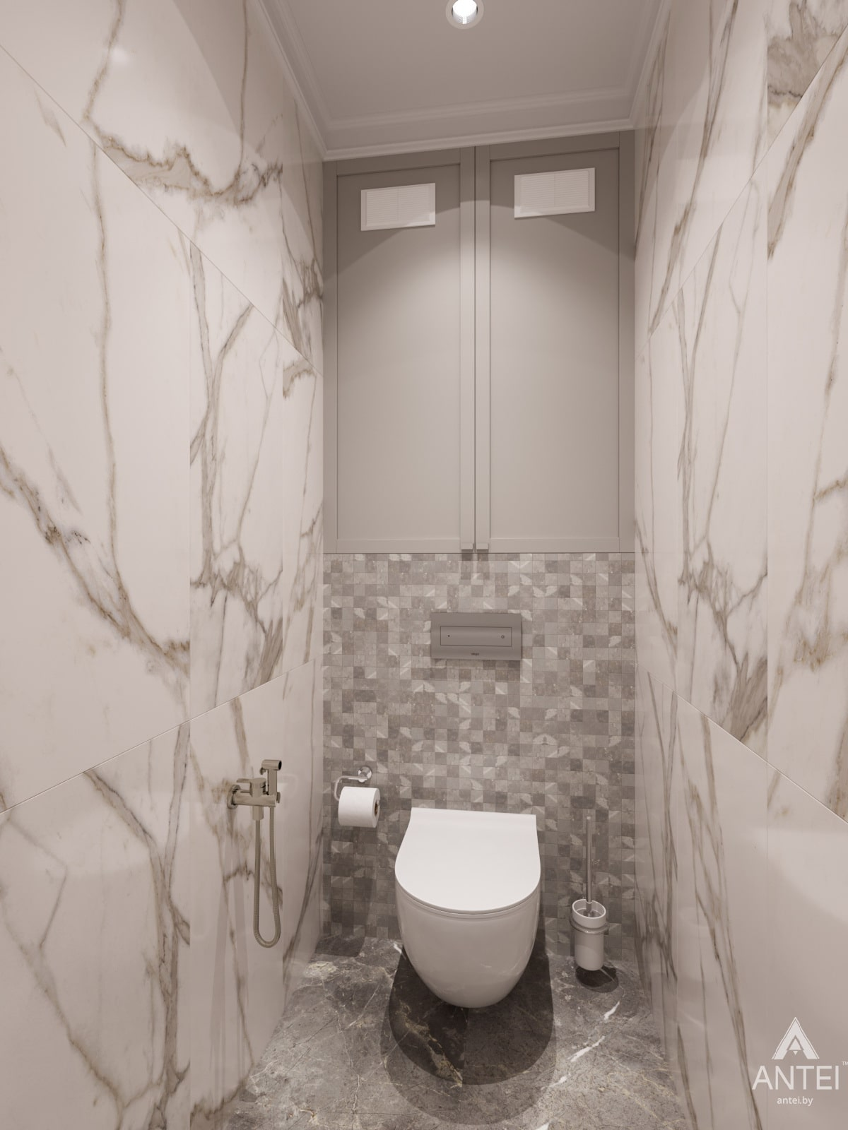 Дизайн интерьера трехкомнатной квартиры в Гомеле, ул. Бородина Т.С. - туалет фото №2