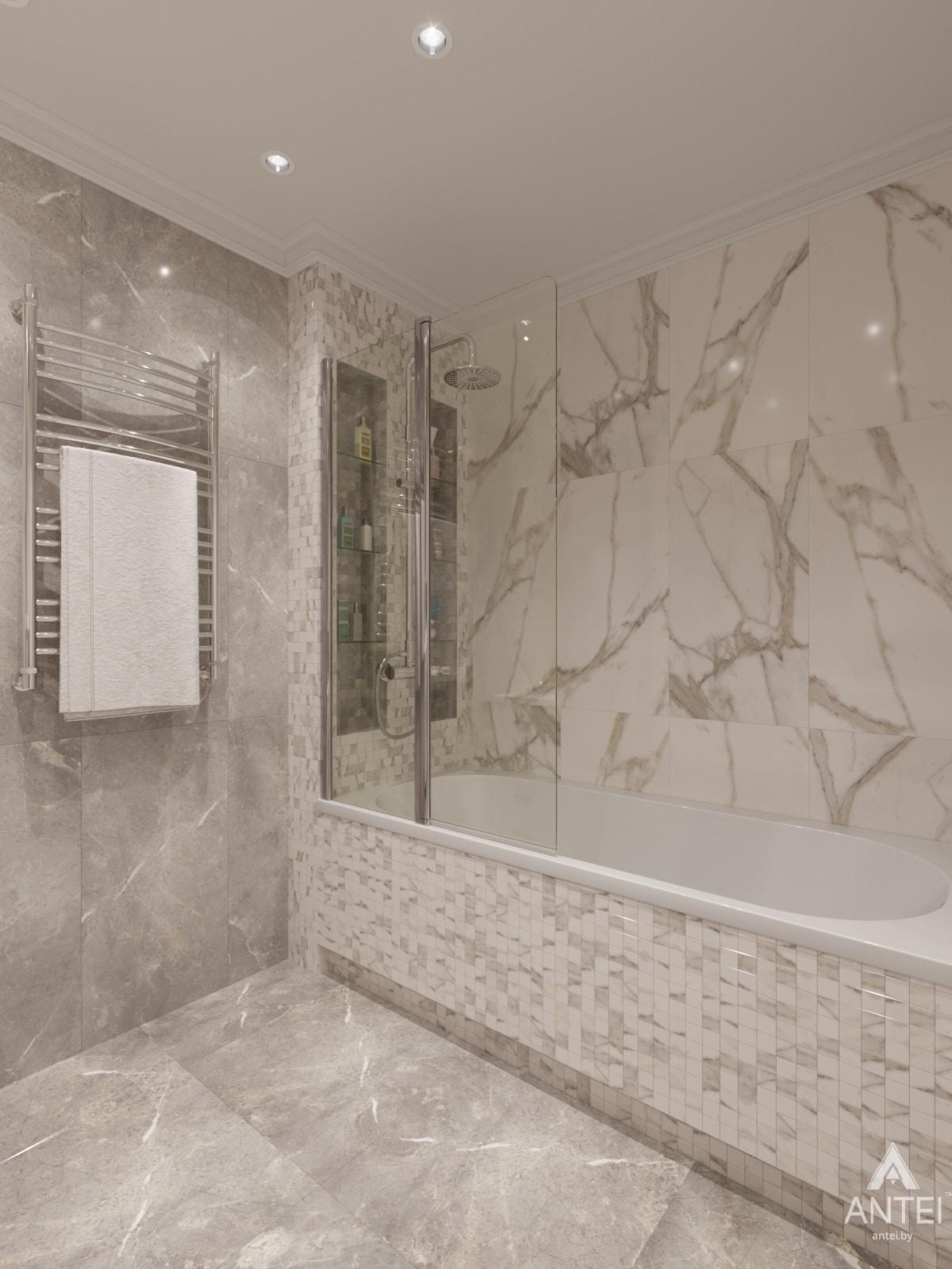 Дизайн интерьера трехкомнатной квартиры в Гомеле, ул. Бородина Т.С. - ванная фото №1