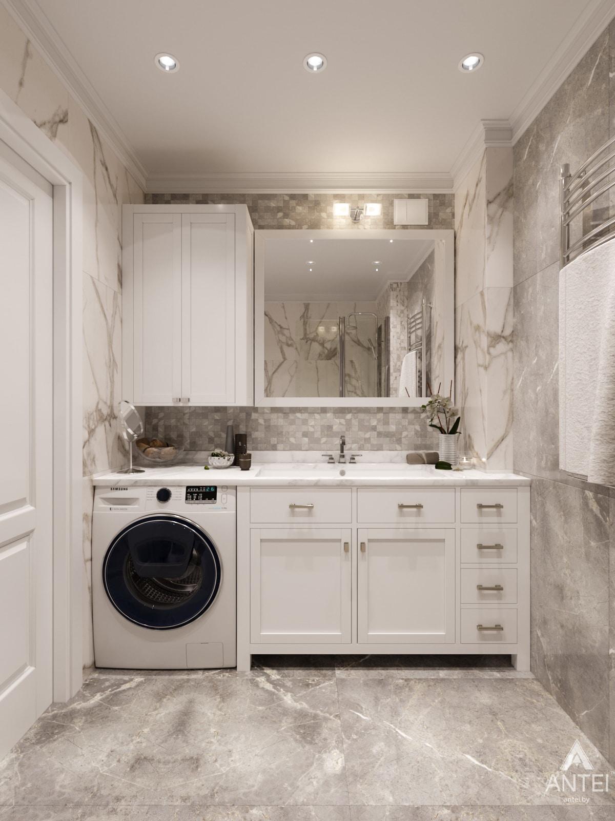 Дизайн интерьера трехкомнатной квартиры в Гомеле, ул. Бородина Т.С. - ванная фото №2