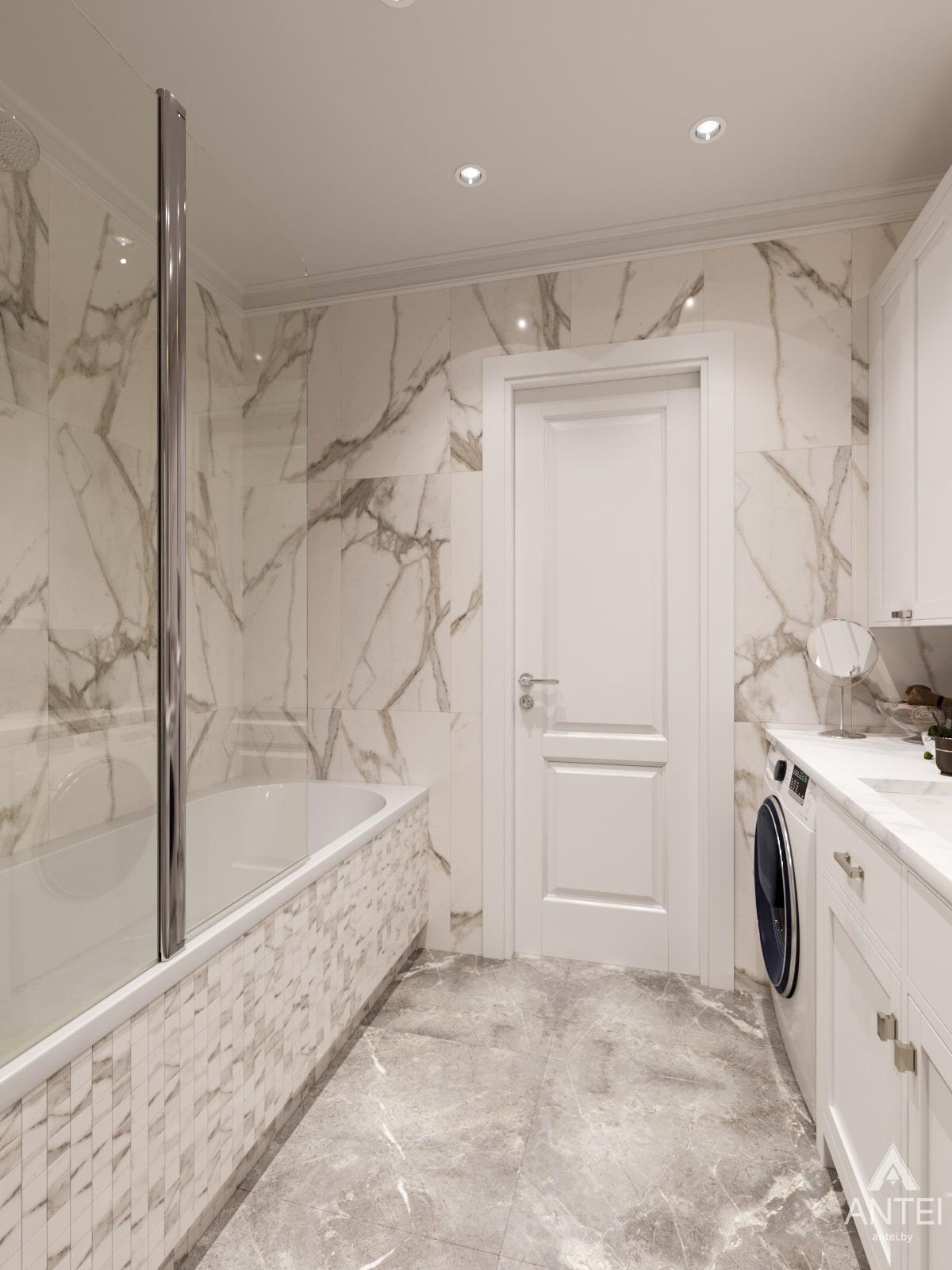 Дизайн интерьера трехкомнатной квартиры в Гомеле, ул. Бородина Т.С. - ванная фото №3