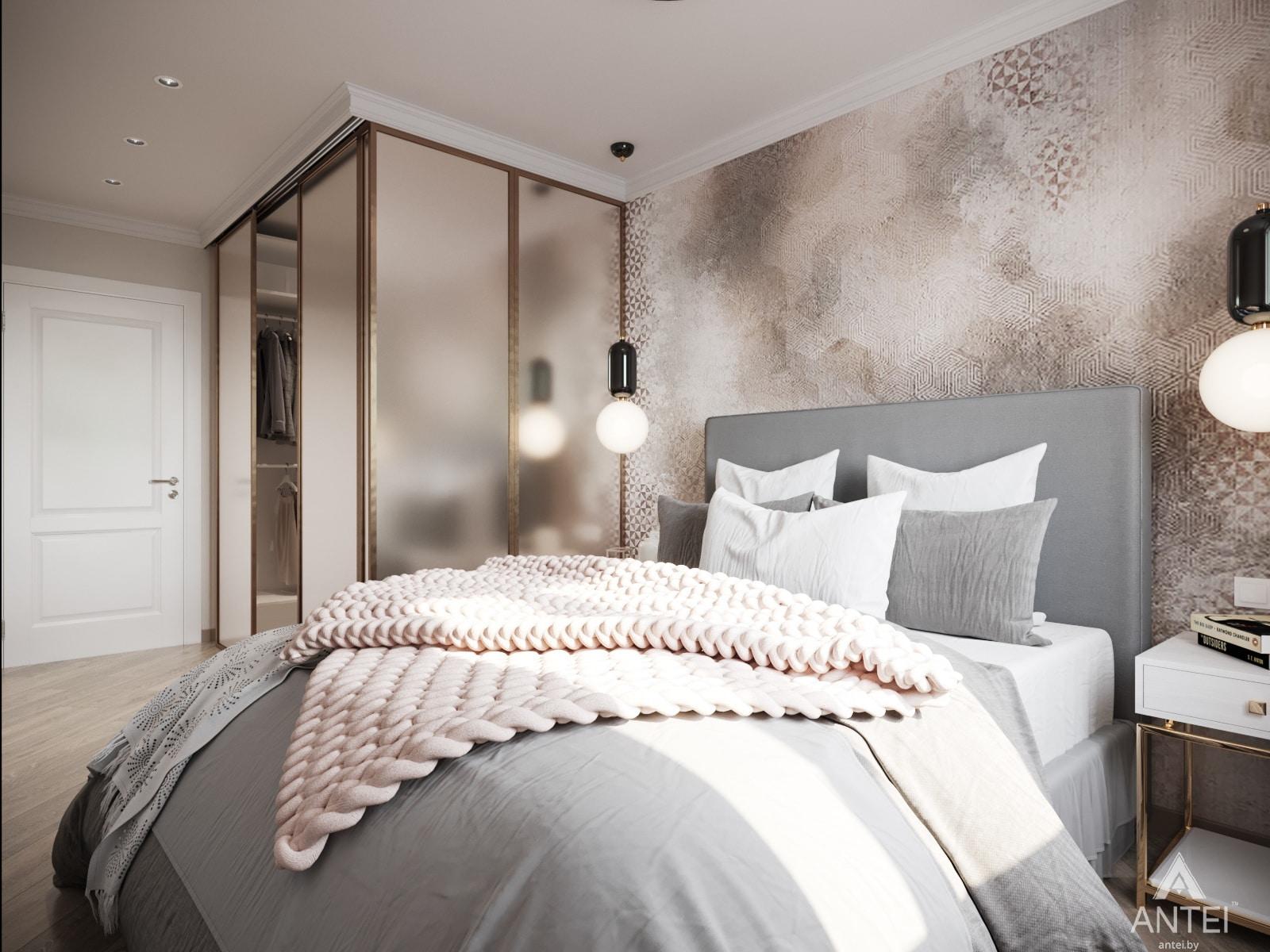 Дизайн интерьера трехкомнатной квартиры в Гомеле, ул. Бородина Т.С. - спальня фото №2