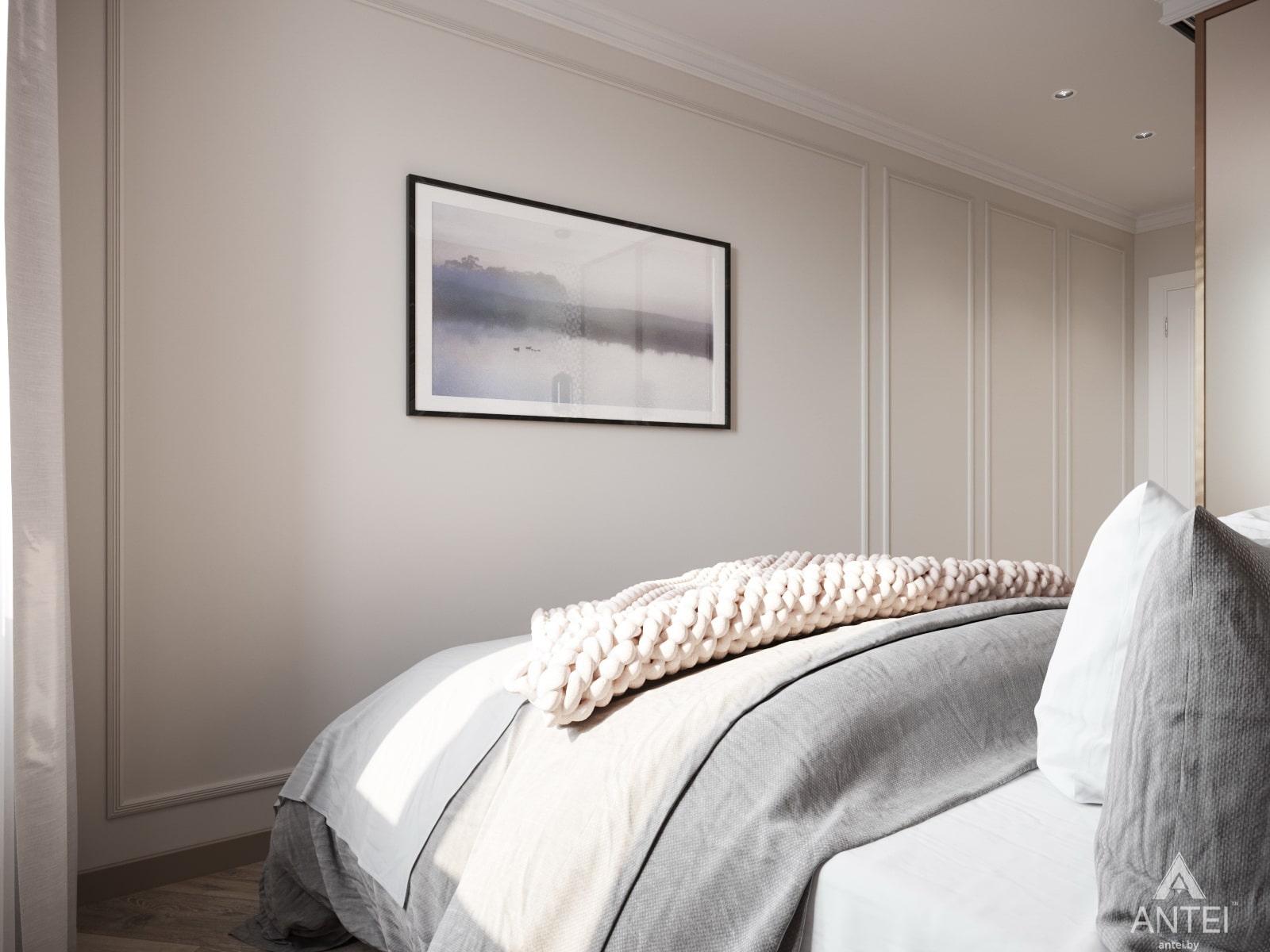 Дизайн интерьера трехкомнатной квартиры в Гомеле, ул. Бородина Т.С. - спальня фото №3