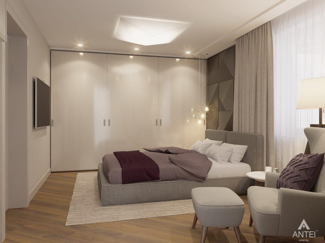 Дизайн интерьера четырехкомнатной квартиры в Гомеле, ул. Советская - спальня фото №1