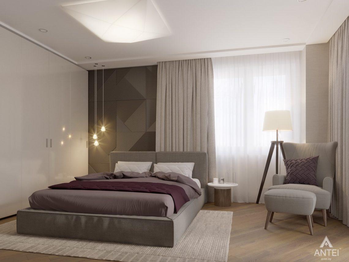 Дизайн интерьера четырехкомнатной квартиры в Гомеле, ул. Советская - спальня фото №2