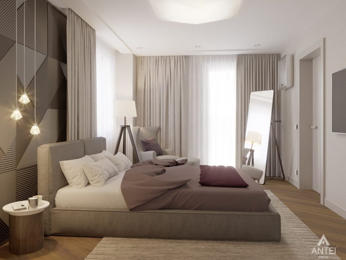 Дизайн интерьера четырехкомнатной квартиры в Гомеле, ул. Советская - спальня фото №3