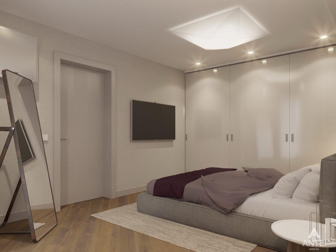 Дизайн интерьера четырехкомнатной квартиры в Гомеле, ул. Советская - спальня фото №4