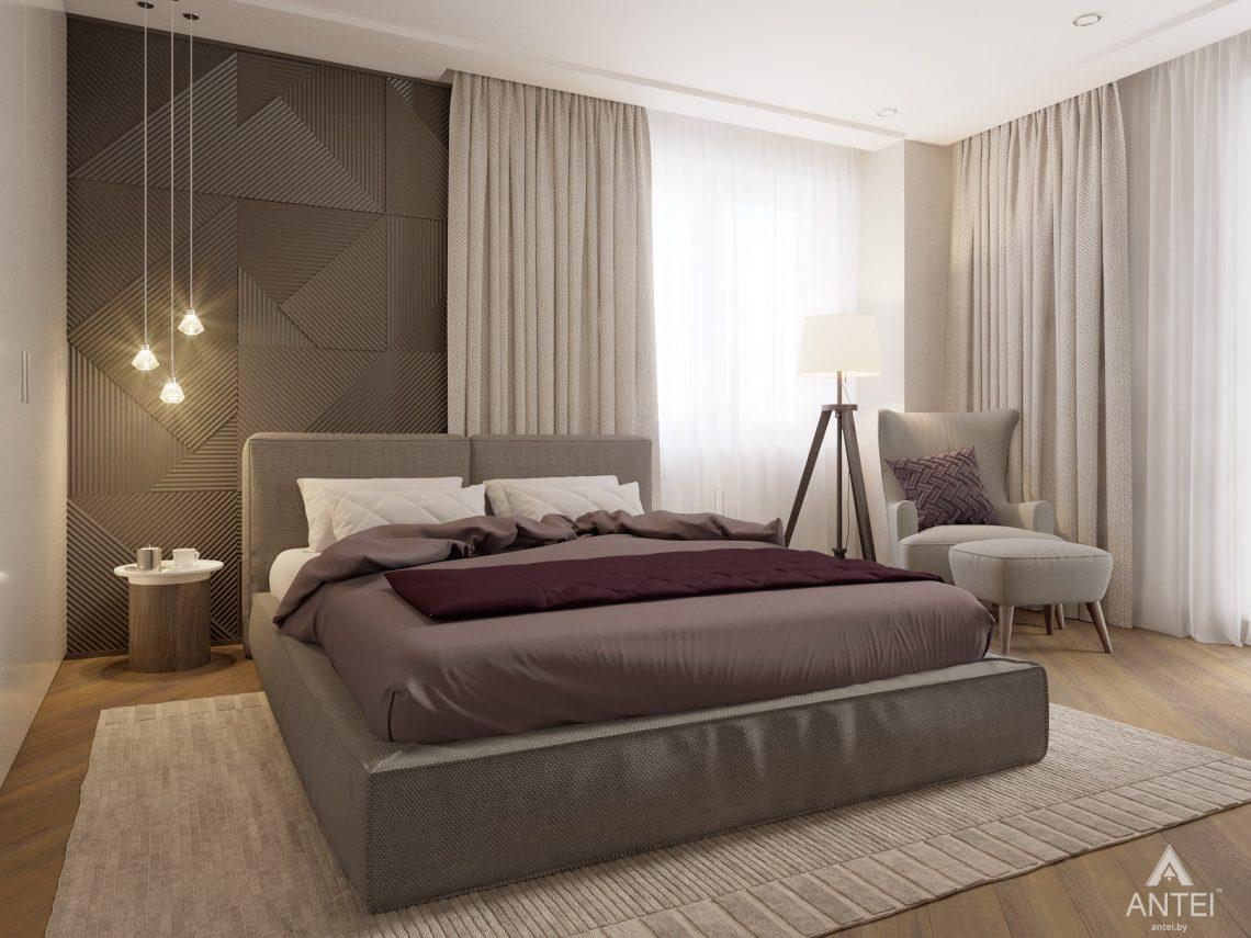 Дизайн интерьера четырехкомнатной квартиры в Гомеле, ул. Советская - спальня фото №5