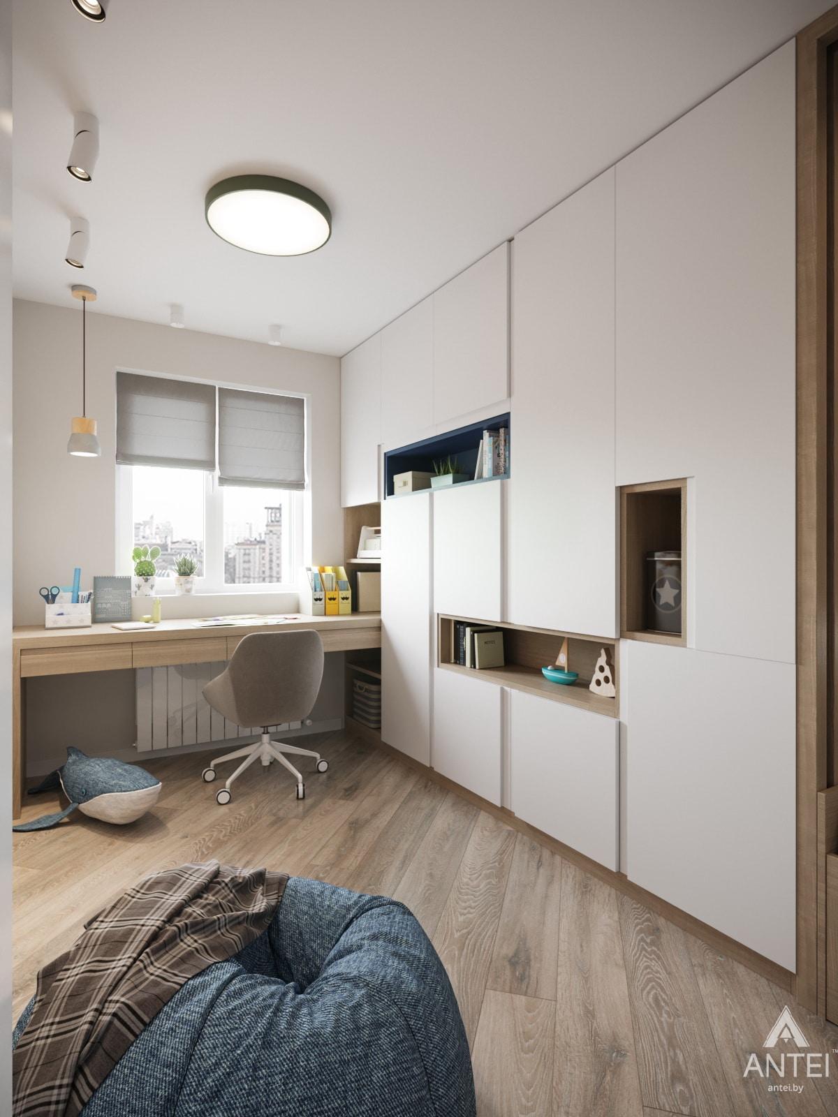 Дизайн интерьера трехкомнатной квартиры в Гомеле, ул. Бородина Т.С. - детская комната фото №1