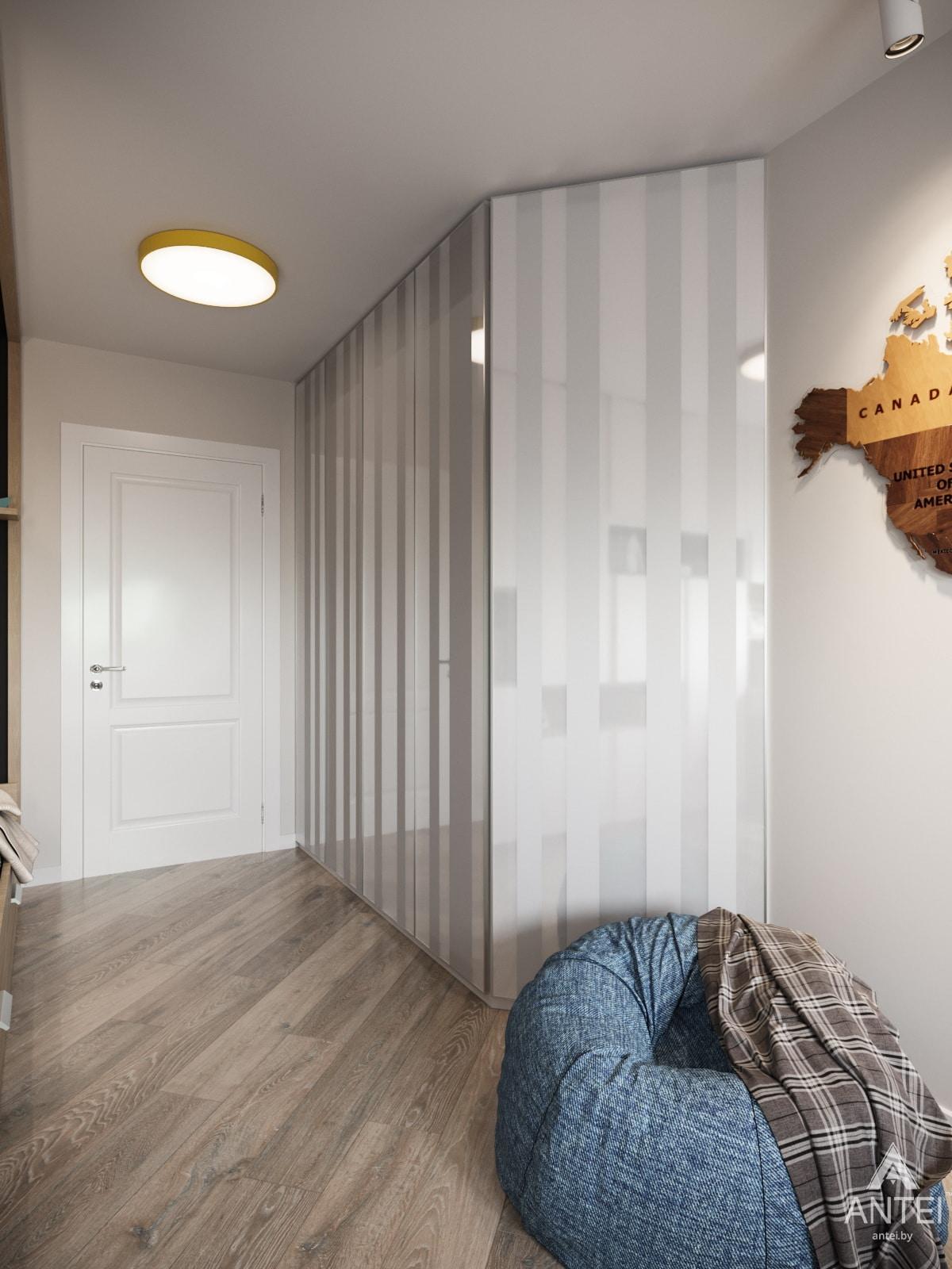 Дизайн интерьера трехкомнатной квартиры в Гомеле, ул. Бородина Т.С. - детская комната фото №2