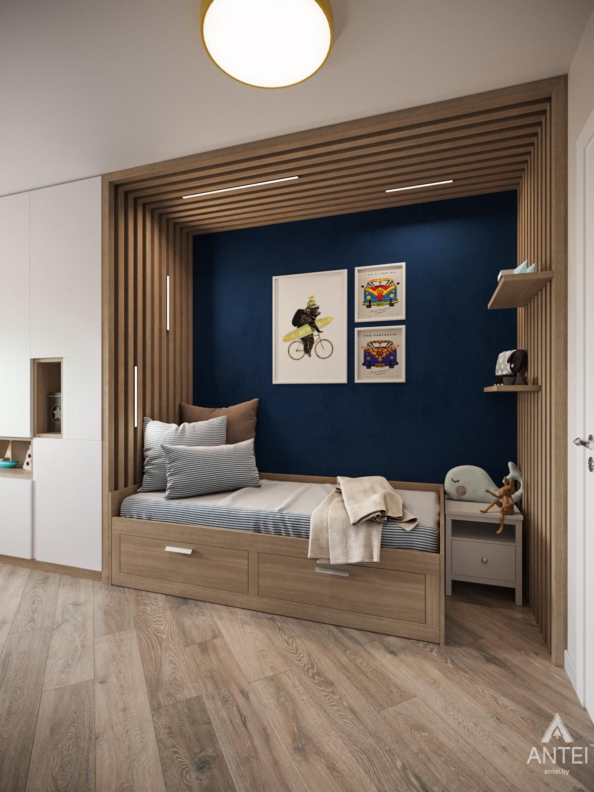 Дизайн интерьера трехкомнатной квартиры в Гомеле, ул. Бородина Т.С. - детская комната фото №3