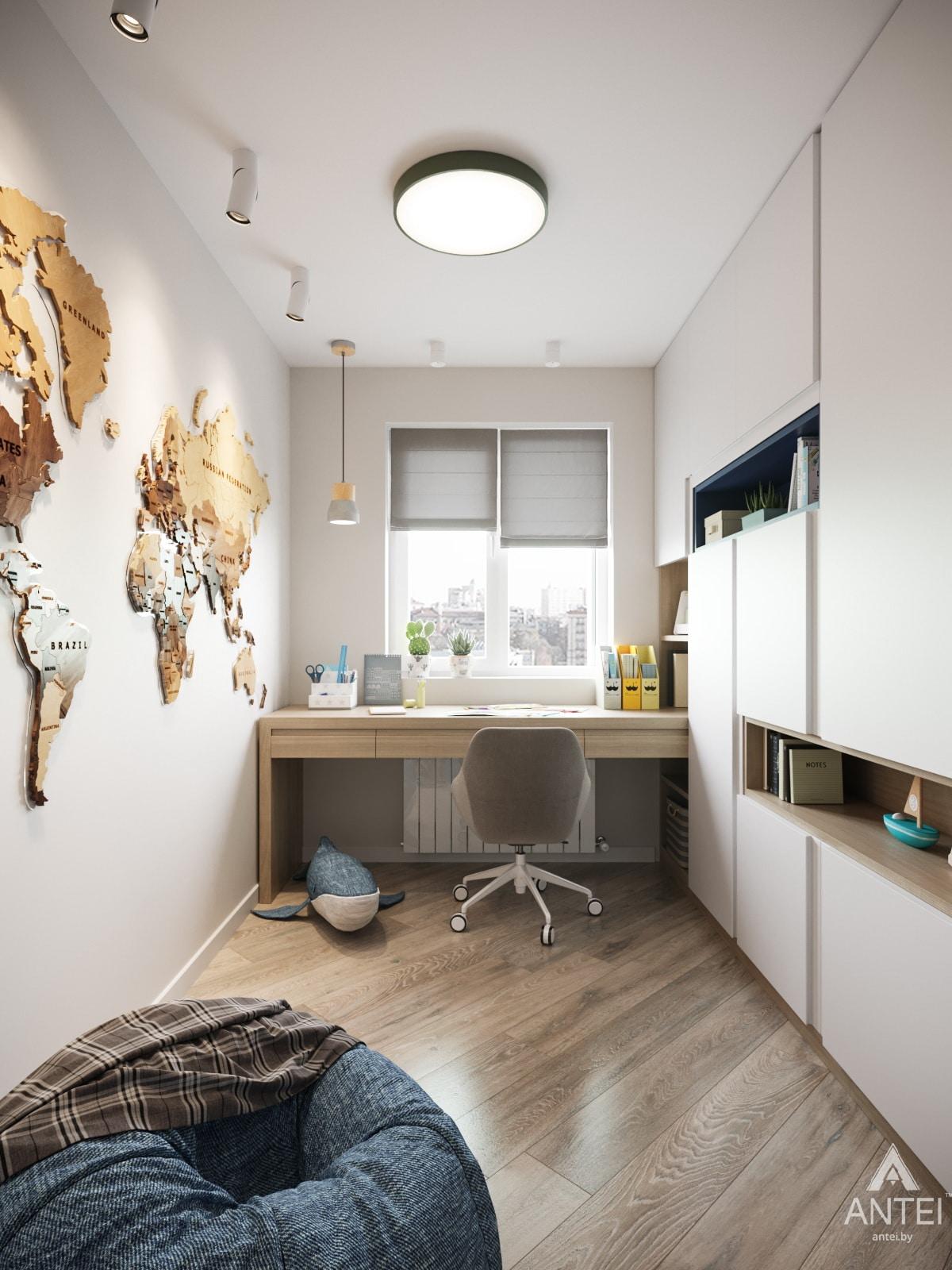 Дизайн интерьера трехкомнатной квартиры в Гомеле, ул. Бородина Т.С. - детская комната фото №4