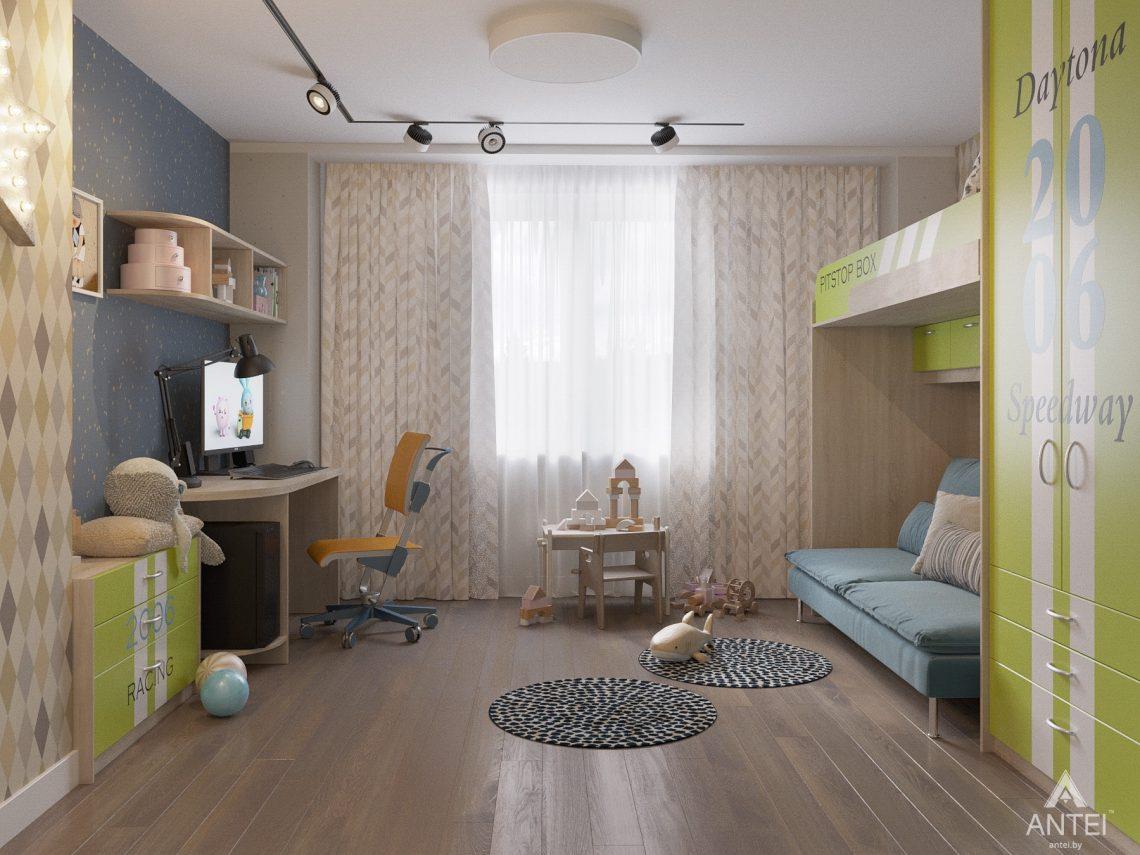 Дизайн интерьера четырехкомнатной квартиры в Гомеле, ул. Советская - детская комната фото №1