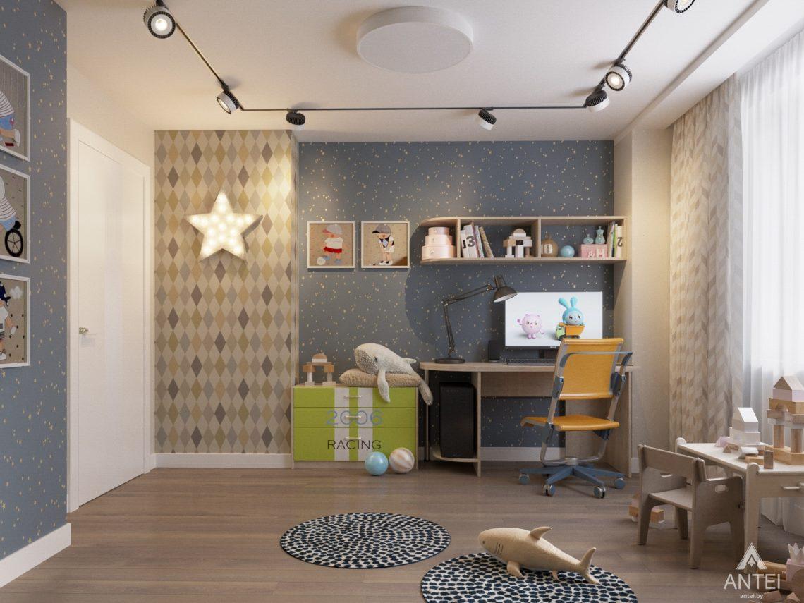 Дизайн интерьера четырехкомнатной квартиры в Гомеле, ул. Советская - детская комната фото №2