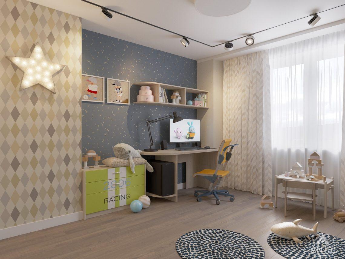 Дизайн интерьера четырехкомнатной квартиры в Гомеле, ул. Советская - детская комната фото №3