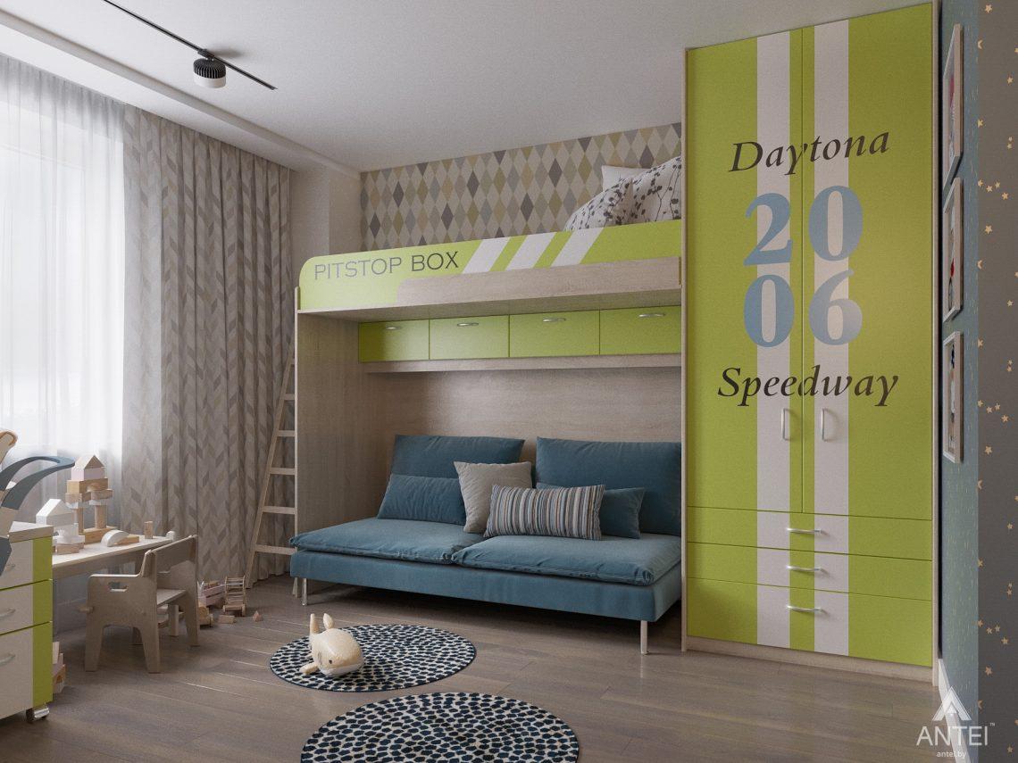 Дизайн интерьера четырехкомнатной квартиры в Гомеле, ул. Советская - детская комната фото №4