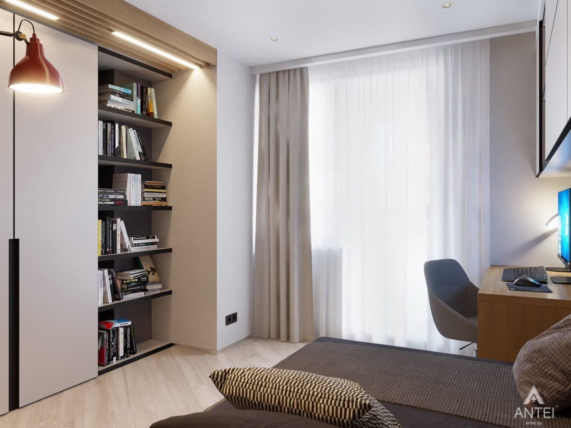 Дизайн интерьера четырехкомнатной квартиры в Гомеле, ул. Советская - детская комната фото №9