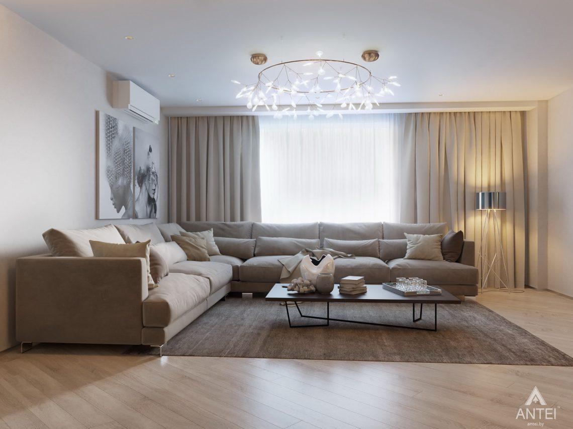 Дизайн интерьера четырехкомнатной квартиры в Гомеле, ул. Советская - гостиная фото №1