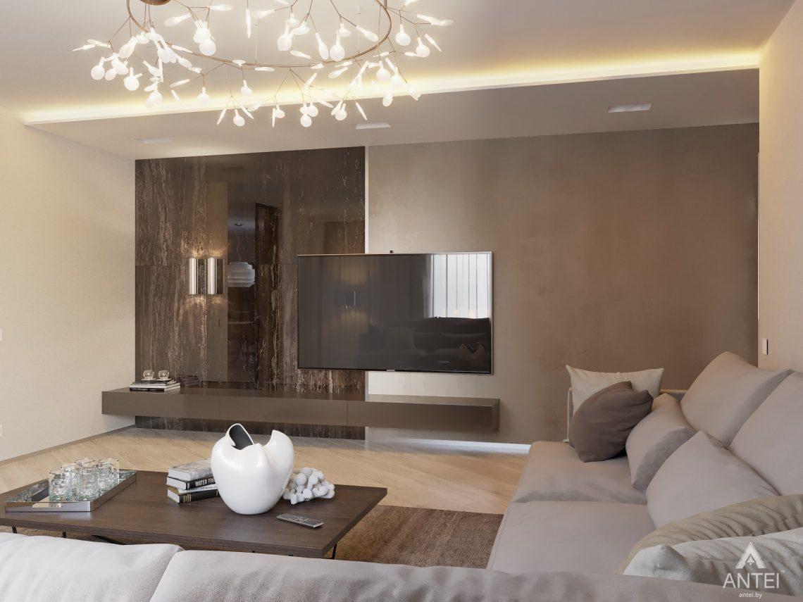 Дизайн интерьера четырехкомнатной квартиры в Гомеле, ул. Советская - гостиная фото №2