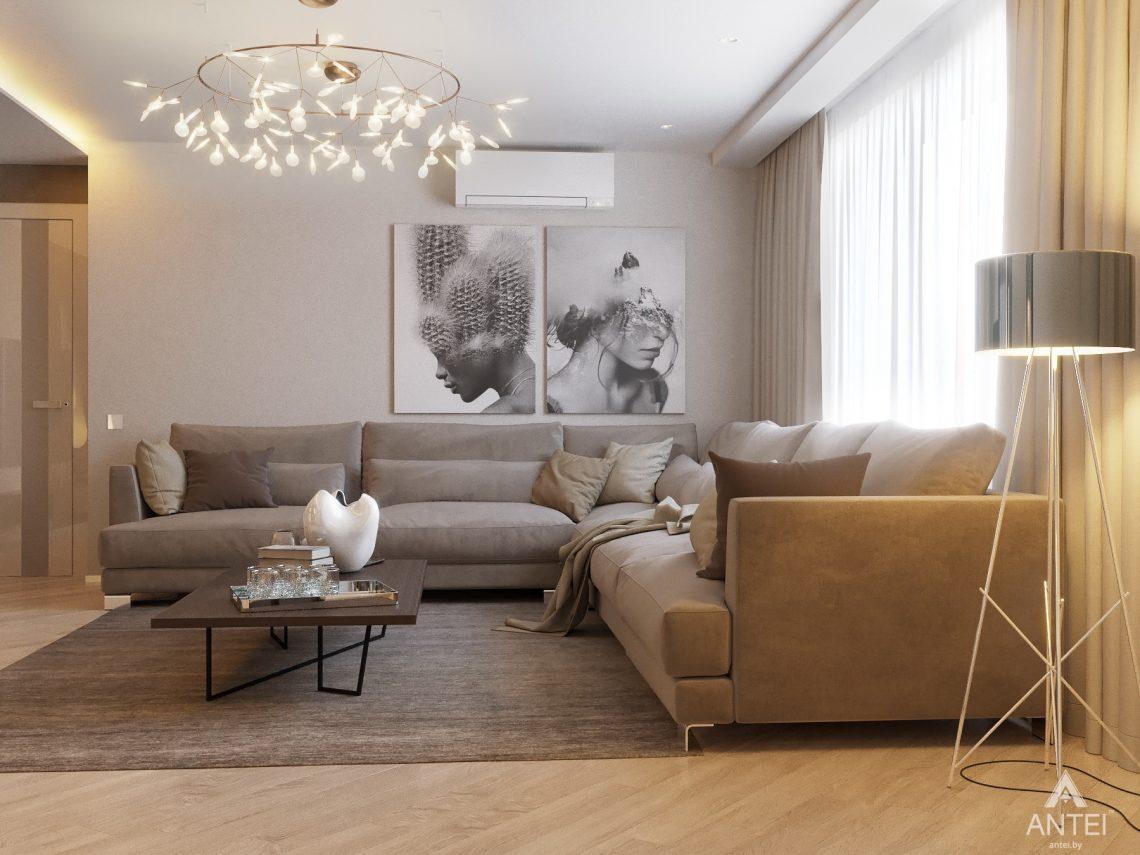 Дизайн интерьера четырехкомнатной квартиры в Гомеле, ул. Советская - гостиная фото №3