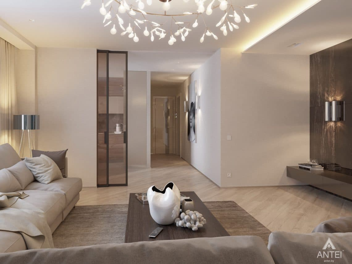 Дизайн интерьера четырехкомнатной квартиры в Гомеле, ул. Советская - гостиная фото №4