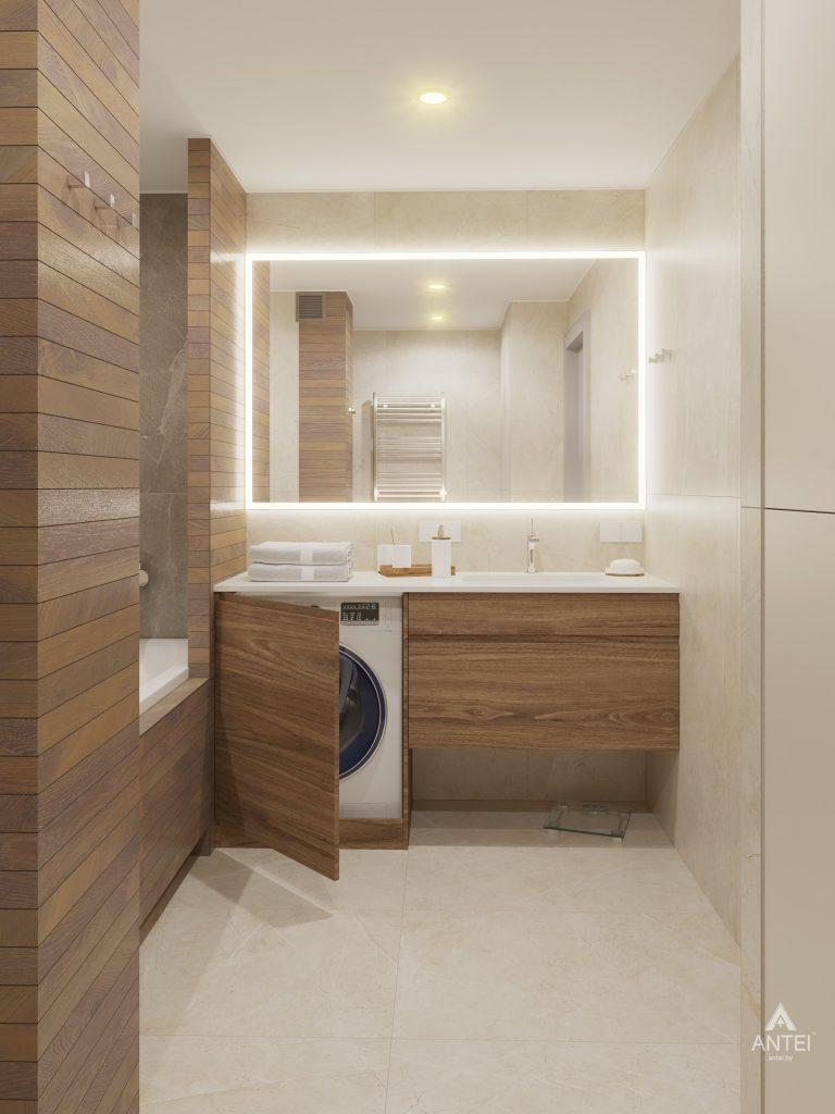 Дизайн интерьера четырехкомнатной квартиры в Гомеле, ул. Советская - ванная фото №1