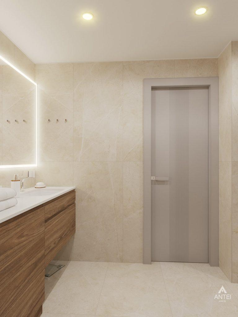 Дизайн интерьера четырехкомнатной квартиры в Гомеле, ул. Советская - ванная фото №2