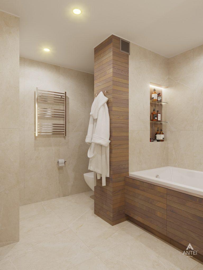 Дизайн интерьера четырехкомнатной квартиры в Гомеле, ул. Советская - ванная фото №3
