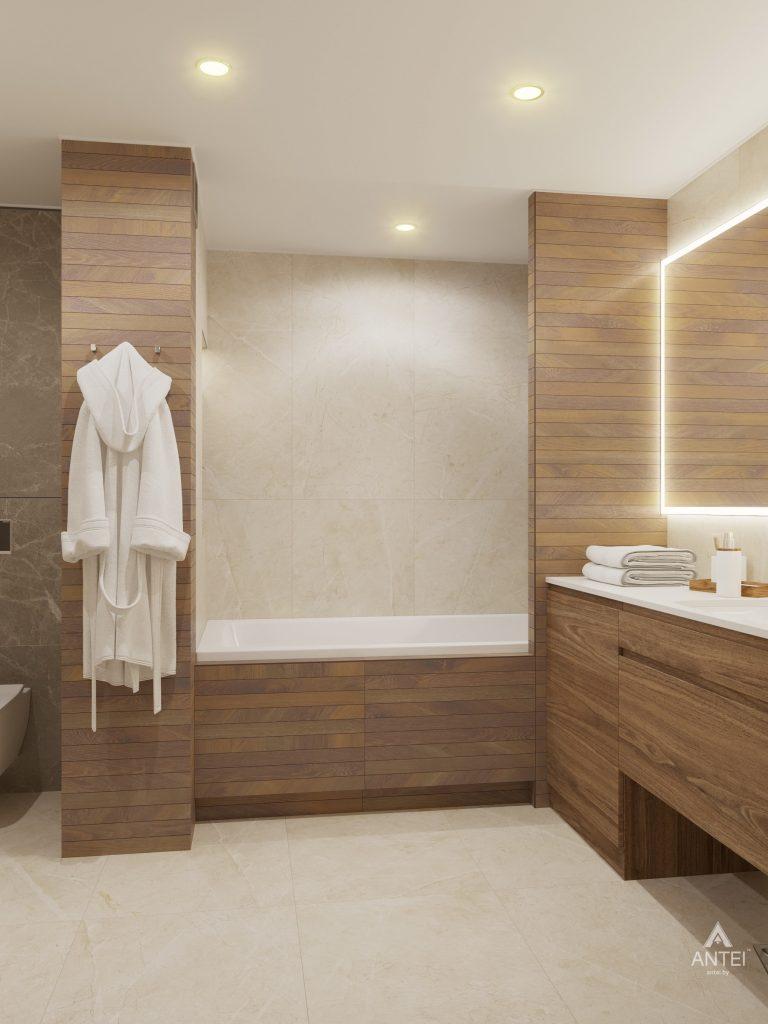 Дизайн интерьера четырехкомнатной квартиры в Гомеле, ул. Советская - ванная фото №4