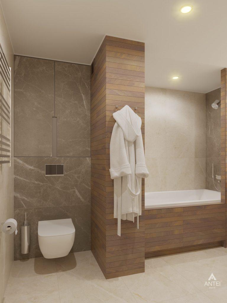 Дизайн интерьера четырехкомнатной квартиры в Гомеле, ул. Советская - ванная фото №5