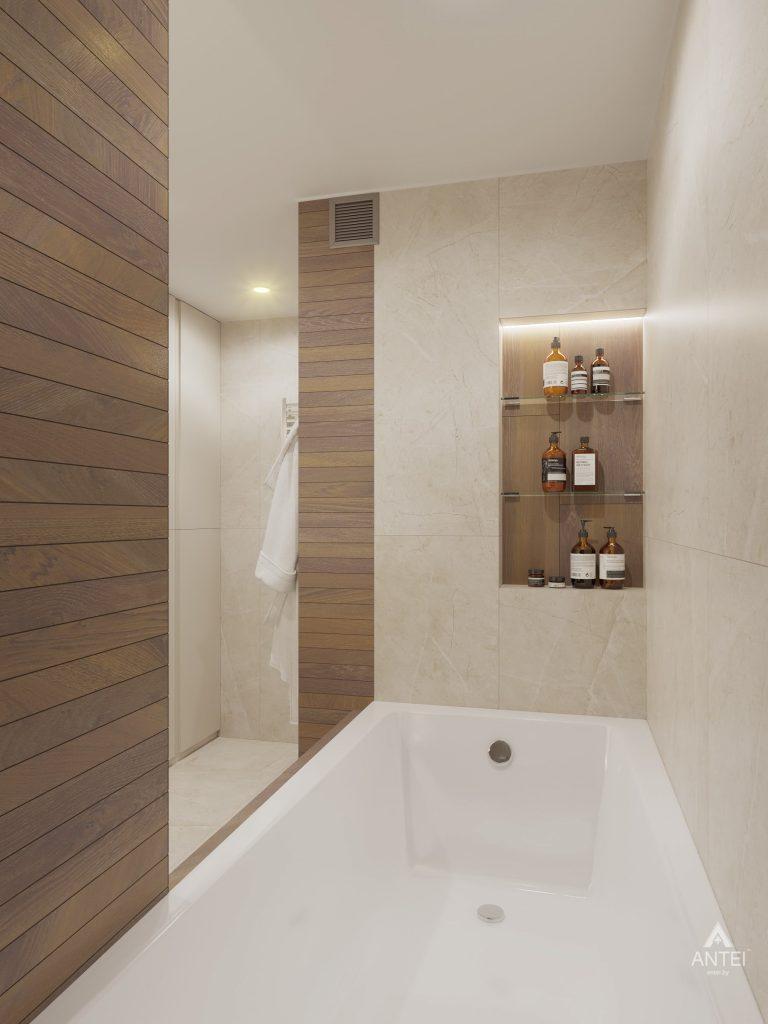 Дизайн интерьера четырехкомнатной квартиры в Гомеле, ул. Советская - ванная фото №6