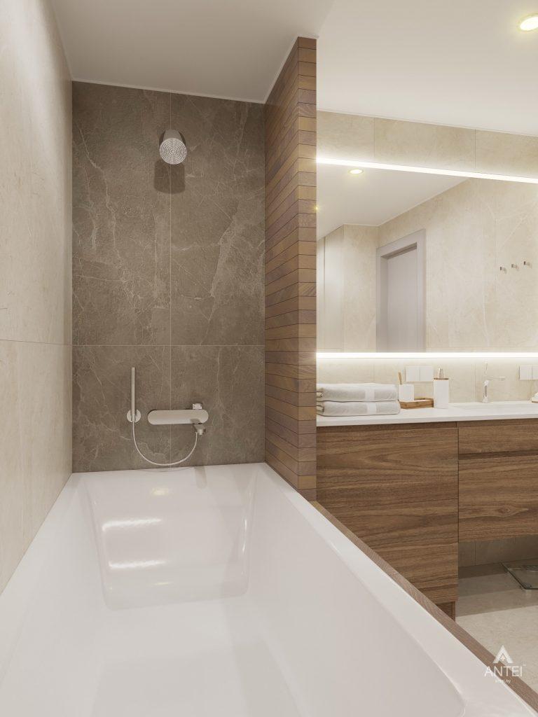 Дизайн интерьера четырехкомнатной квартиры в Гомеле, ул. Советская - ванная фото №7