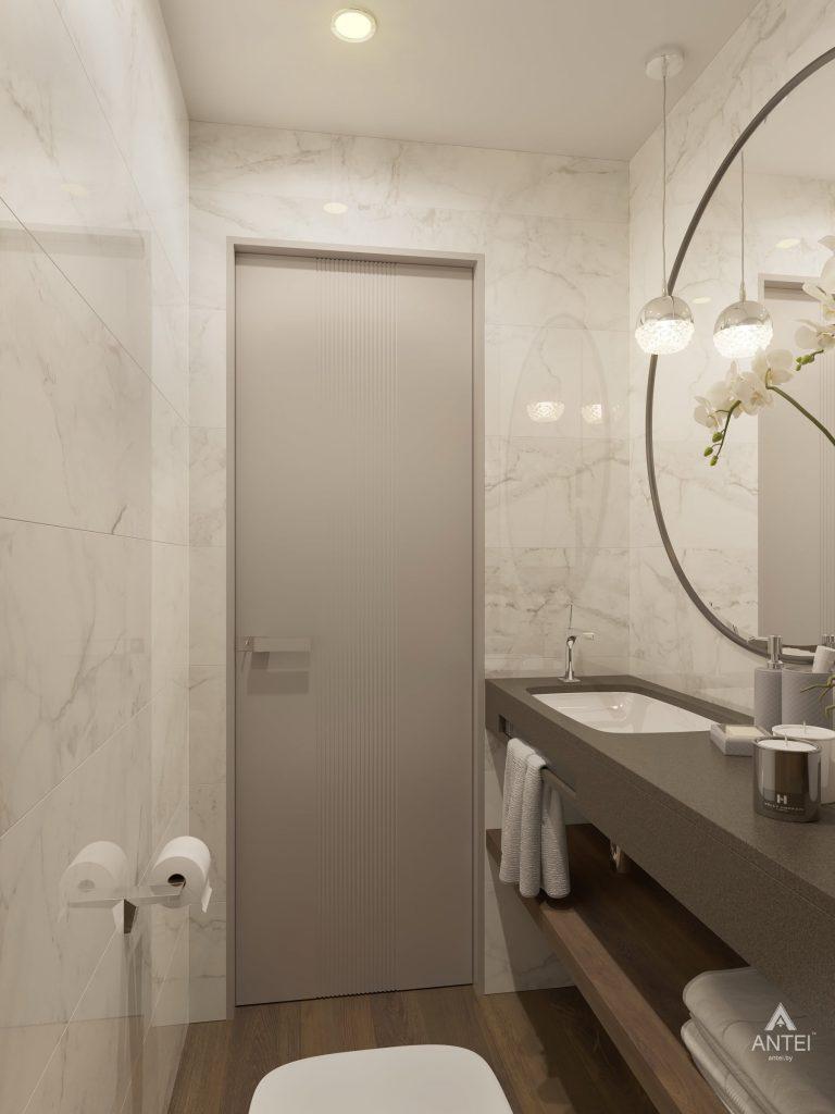 Дизайн интерьера четырехкомнатной квартиры в Гомеле, ул. Советская - санузел фото №3