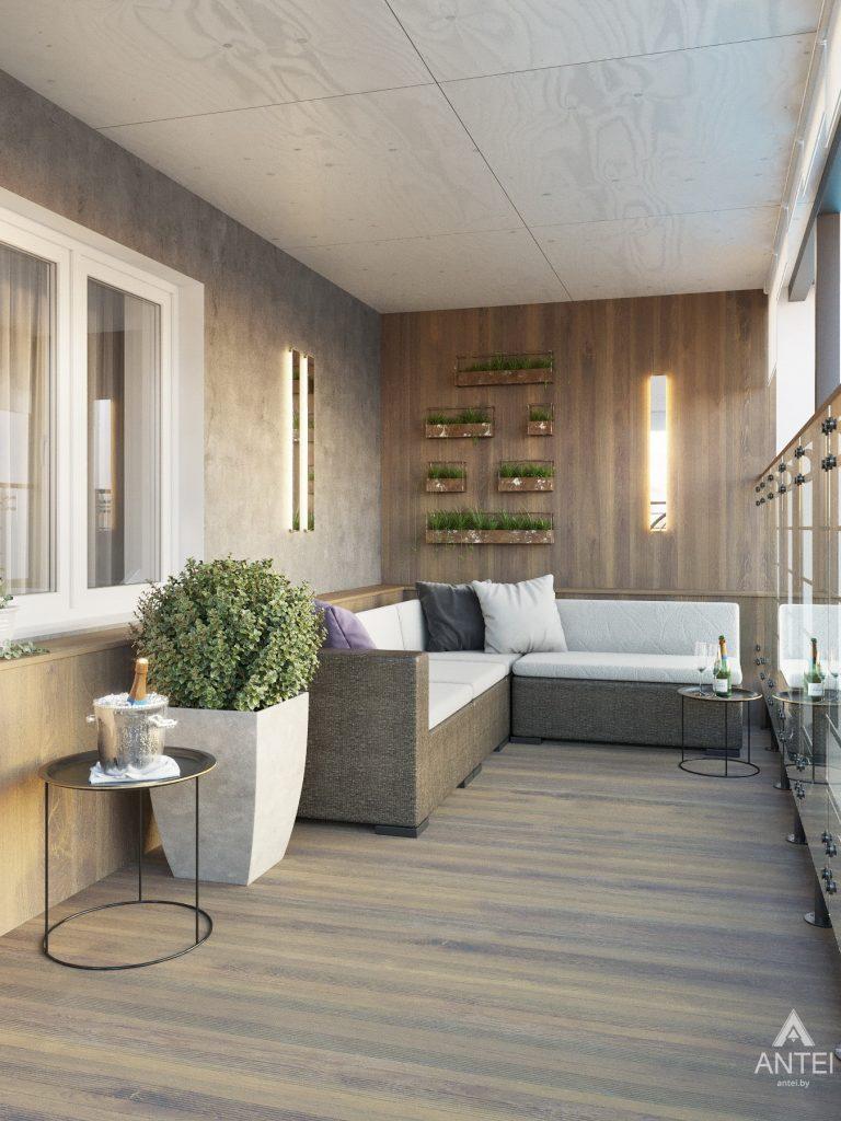 Дизайн интерьера четырехкомнатной квартиры в Гомеле, ул. Советская - терасса фото №1