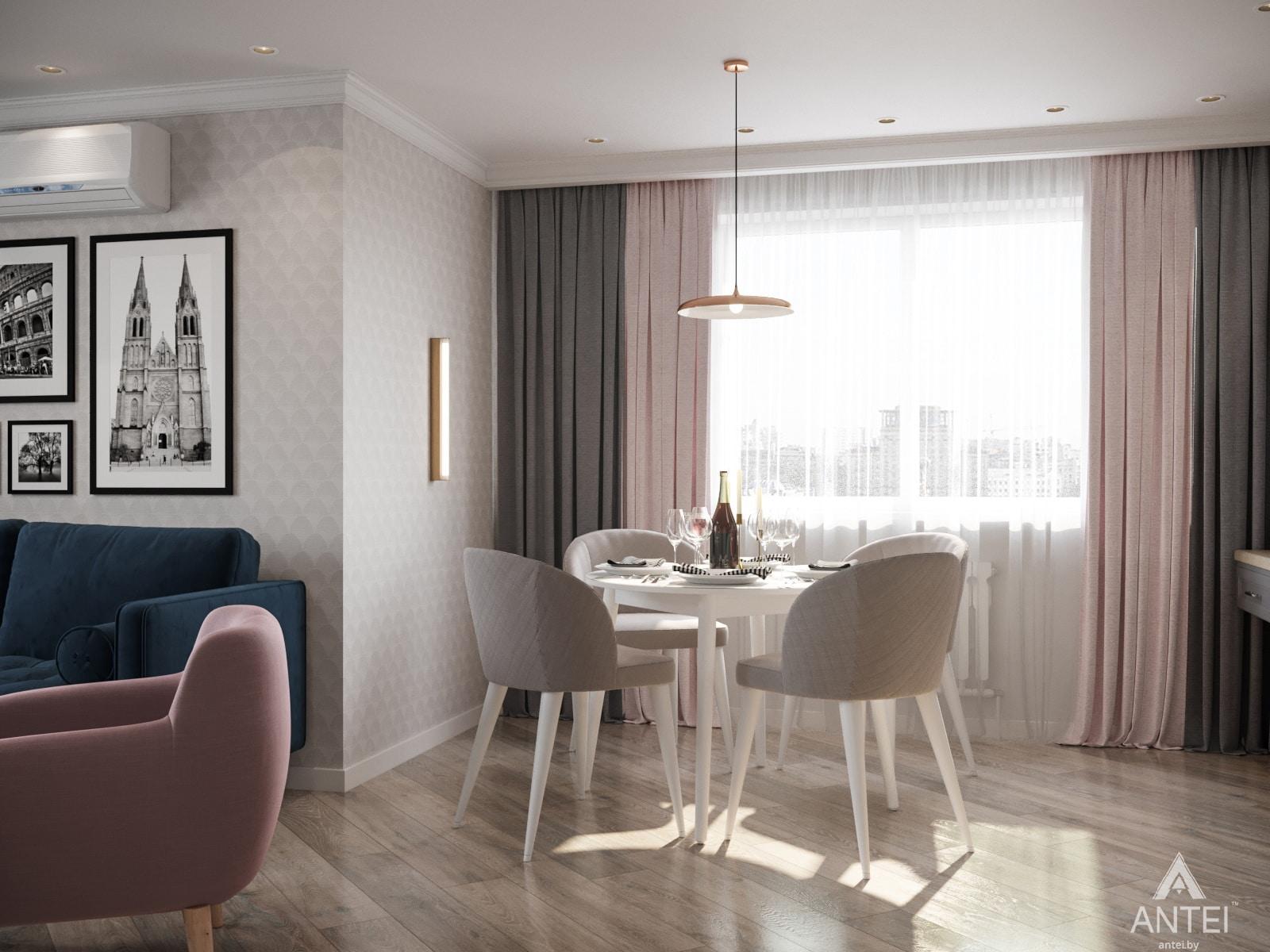 Дизайн интерьера трехкомнатной квартиры в Гомеле, ул. Бородина Т.С. - гостиная фото №3