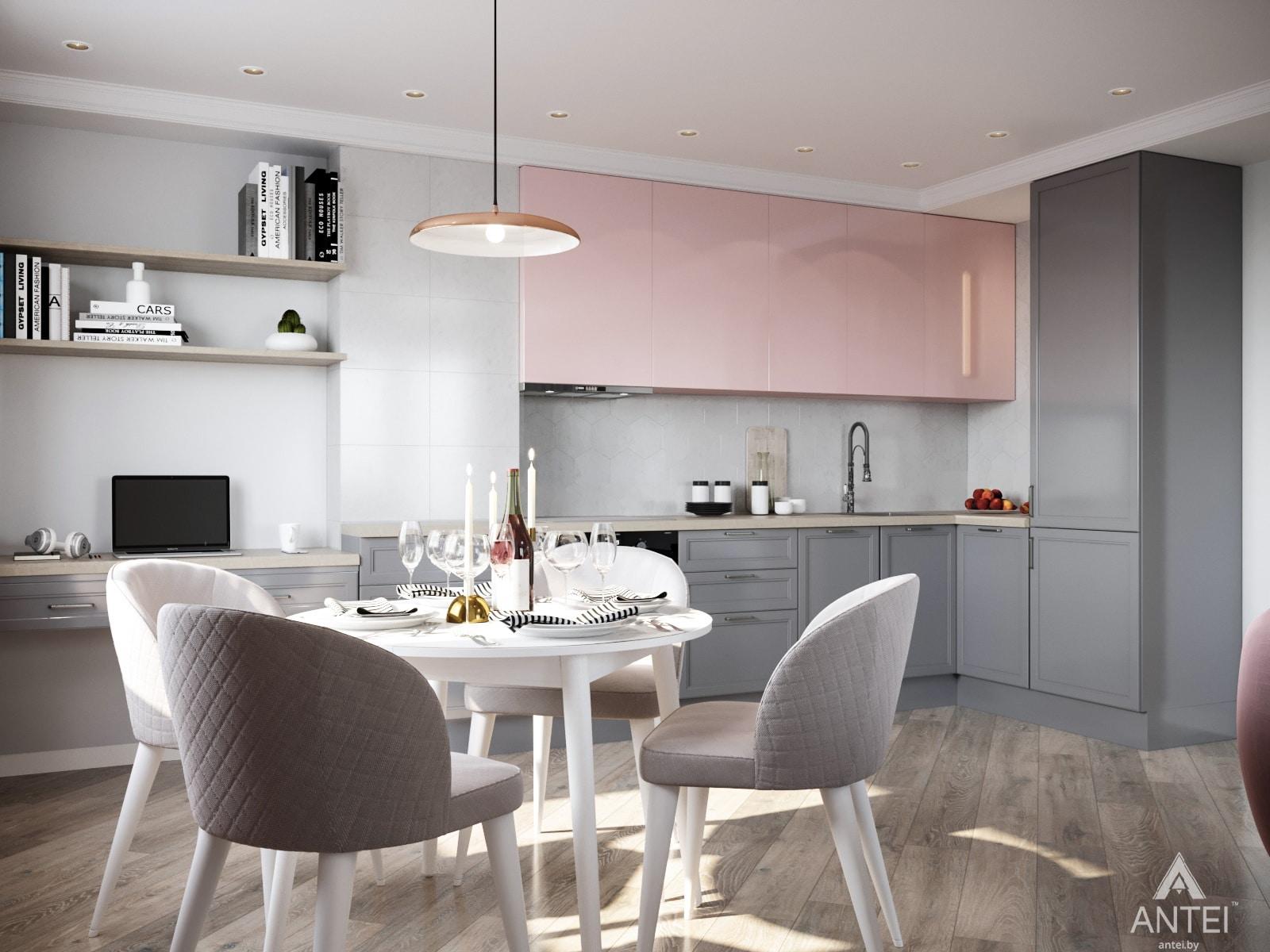 Дизайн интерьера трехкомнатной квартиры в Гомеле, ул. Бородина Т.С. - кухня фото №1