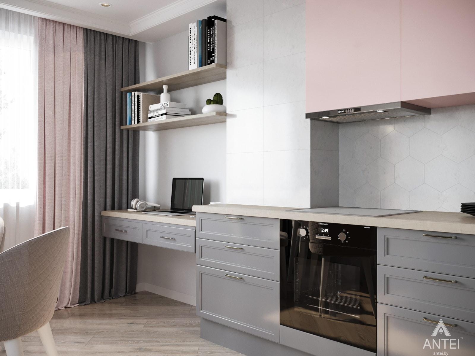 Дизайн интерьера трехкомнатной квартиры в Гомеле, ул. Бородина Т.С. - кухня фото №2