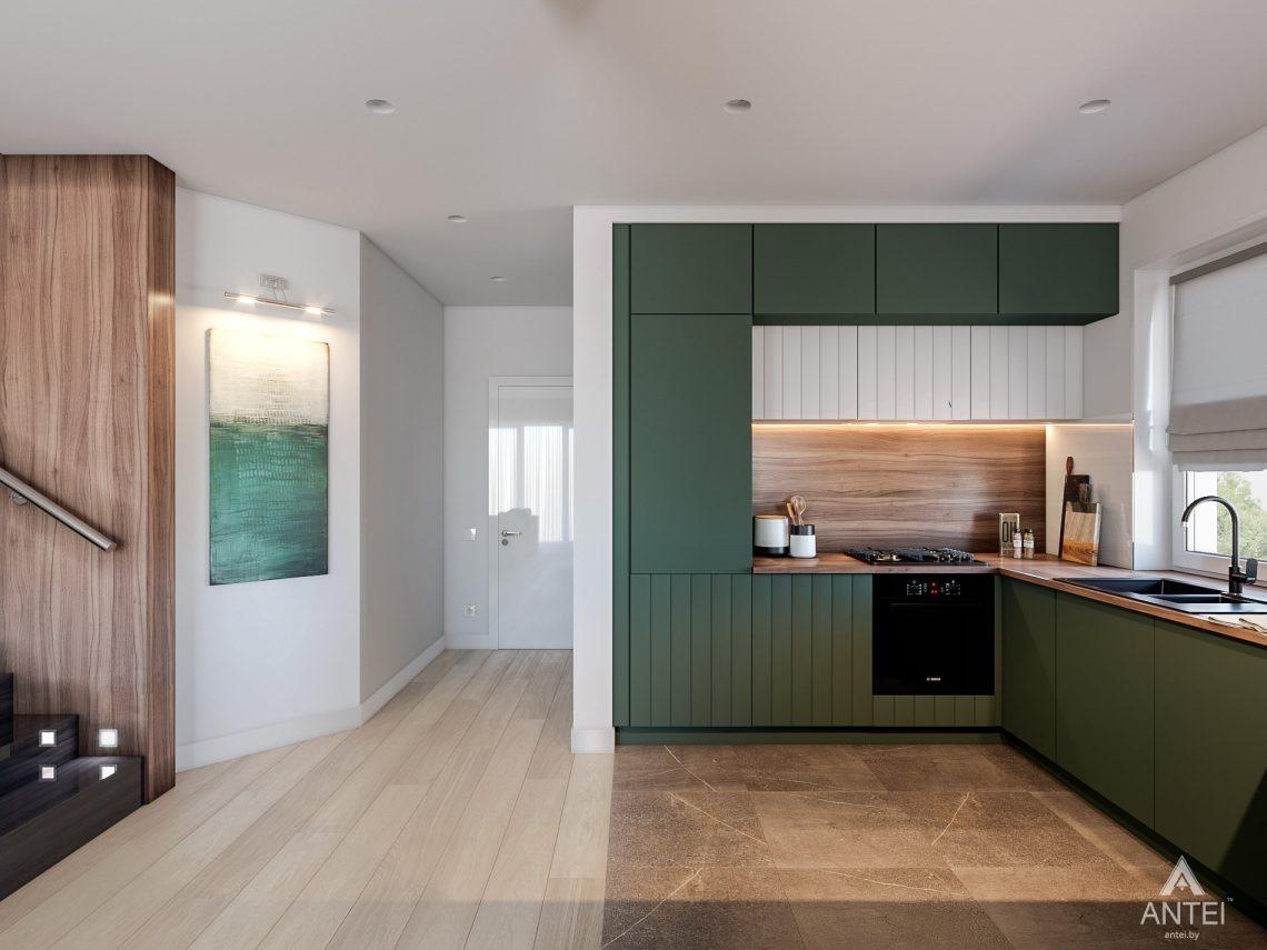Дизайн интерьера таунхауса в Варшаве - кухня фото №3