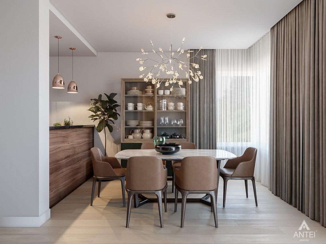 Дизайн интерьера таунхауса в Варшаве - кухня фото №1